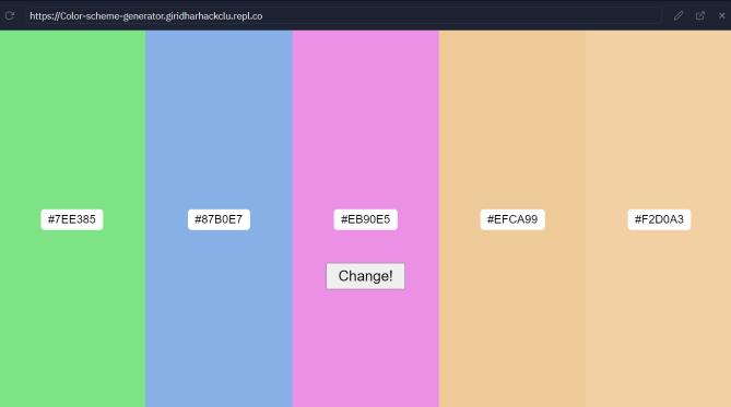 Color Scheme Generator demo